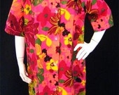 New Old Stock Vintage Styloungers Hawaiian Muu-Muu Dress