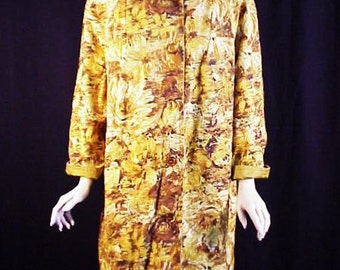 Tiki Goddess: Wild 60s Mod All Weather Reversible Coat, M/L
