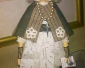 Henrietta Danforth Paper Clay Folk Art Gothic Doll