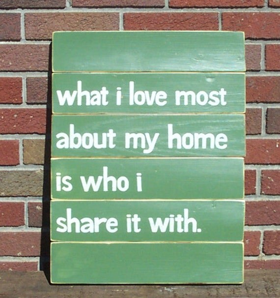 What I love Most SLAT SIGN CUSTOM Olive Green Distressed Handmade Hand-painted Wooden 16x21 Whagn
