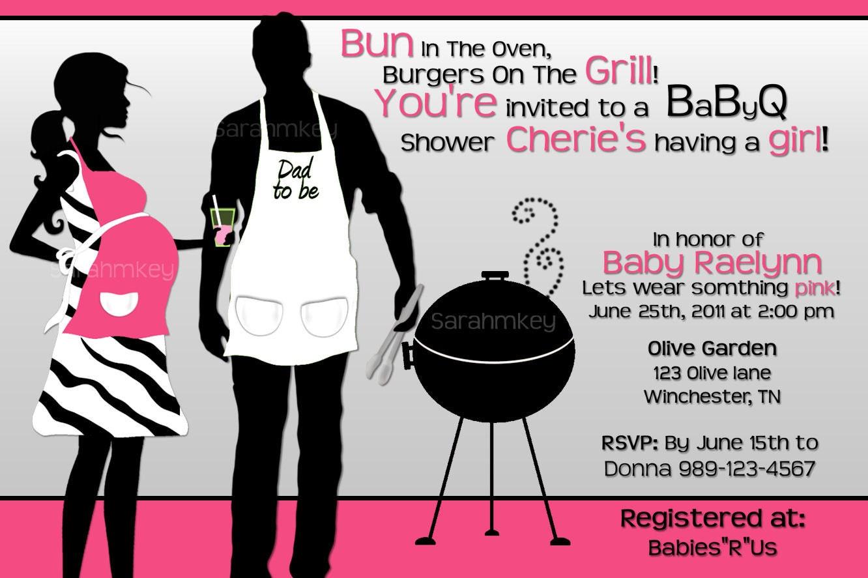 Bbq Baby Shower Invitations gangcraftnet