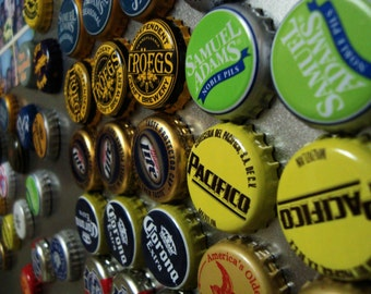 Bottlecap Fridge Magnets - Beer Set - 10 magnets