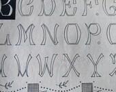 Original Page Antique French Monograms Alphabet Patterns Letter designs, Embroderie, letterpress, scrapbooking