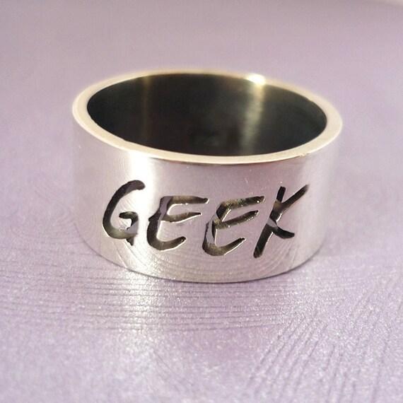 Geek Sterling Silver Ring