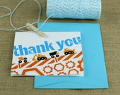 Truck Party Construction Birthday Thank You Card from the Construction Crew DIY Printable Party Collection by Spaceships and Laser Beams