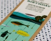 Custom Invitation from the Vintage Fishing from the DIY Printable Party Collection by Spaceships and Laser Beams