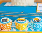 Truck Party Construction Birthday Cupcake Wrappers from the Construction Crew DIY Printable Collection by Spaceships and Laser Beams