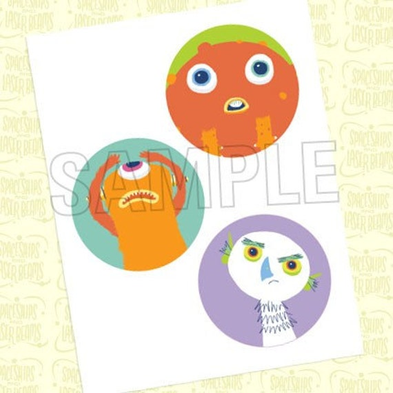 Items Similar To Monster Circle Decals (4 Inch) From The