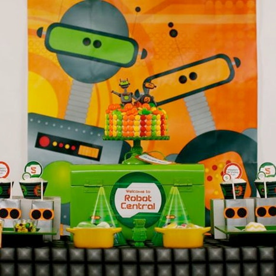 20 DOLLARS OFF Robot Value Package from the Robots Rule DIY Printable Birthday Party Collection by Spaceships and Laser Beams