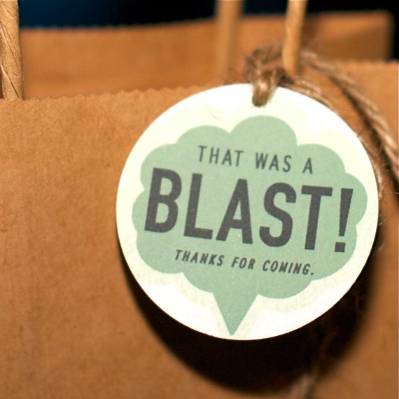 Party Favor Tag from the Science Birthday Themed DIY Printable Collection by Spaceships and Laser Beams