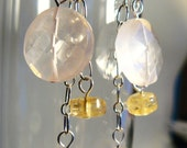 Earrings with Rose Quartz - Blush ON SALE
