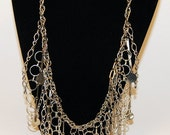 Vintage Silver Chain Necklace.  Handmade by Jen Gourley on Etsy