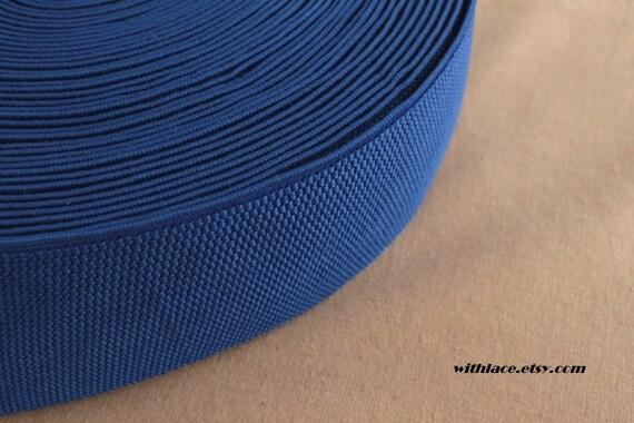 1 yd navy blue elastic band ---3''
