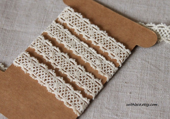 4 yds 11 inches cream decorative crochet lace---1/2''