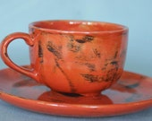 Orange you glad you had coffee (cup and saucer)
