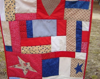 Americana  Quilted Wallhanging