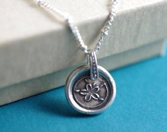 Little Sanddollar - Fine Silver Sanddollar Necklace