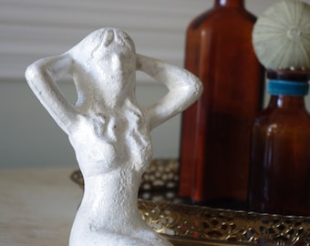 Beach Decor Shabby Chic Cast Iron Mermaid  - PICK YOUR COLOR