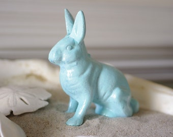 Home Decor Beach Bunny - Cast Iron Bunny  - PICK YOUR COLOR