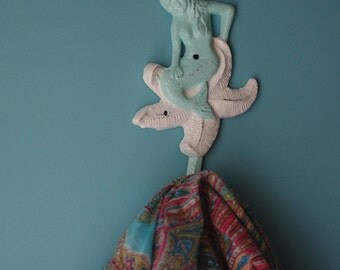 Little Mermaid Wall Hook - Starfish Wall Hook - Beach Decor Wall Hook