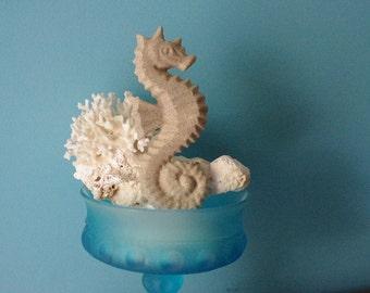 Beach Decor Sand Textured Cast Iron Sea Horse