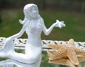 Pick Your Color - Coastal Decor - Mermaid Holding Starfish