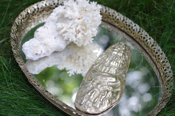 Vintage Brass Oyster Shell