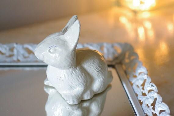 Cottage Decor Cast Iron Bunny  - PICK YOUR COLOR