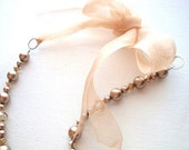 Champagne Pearls and Crystal Party Necklace