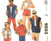 Vintage  Pattern Boys Jacket Pants Shorts  McCalls 9553  on Etsy