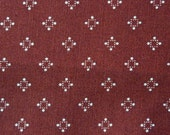 Vintage Cotton Fabric Rust Print  Autumn Color