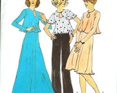 70's Simplicity Pattern 6663  Flared Skirt and Top Size 10 Bust 32.5 Vintage