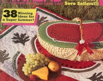 Magazine Needle And Thread Summer 1986 Sewing Crafts Applique Patterns