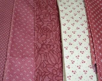 Quilting Fabric Pieces Vintage Fabric Remnants  Destash Cotton Prints 1 pound Dusty Rose Pink