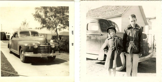 Old Photos Cars, trucks, children 1940s and 1950s
