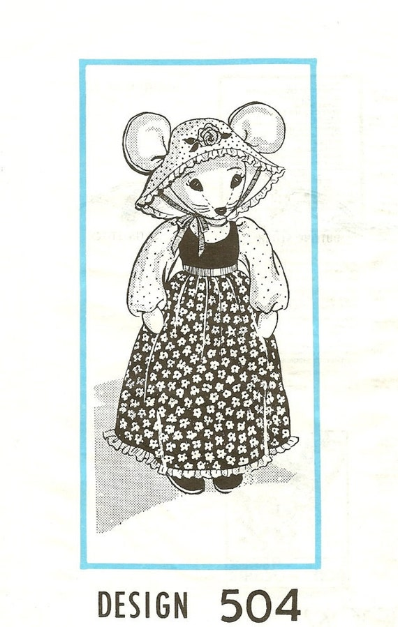 Country Mouse Mail Order Pattern 1960s Vintage