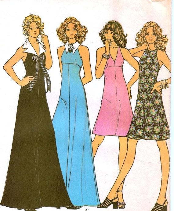 Vintage McCalls Dress Pattern Retro 1970s Size 10 Bust 32