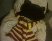 Striped Scarf - Garnet and Gold