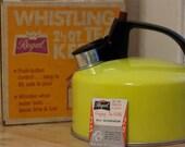 Regal Whistling Aluminum Tea Kettle in Sunshine Yellow