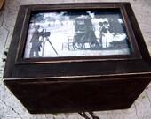 Vintage Victorian Memory Box/ Steampunk Keepsake / Gothic Noir