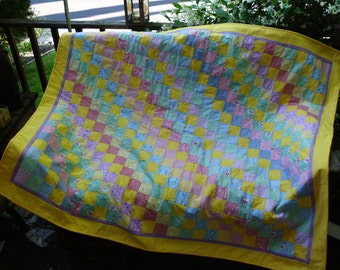 Yellow squares quilt