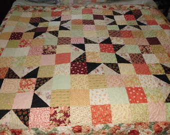 Reversable twin star quilt