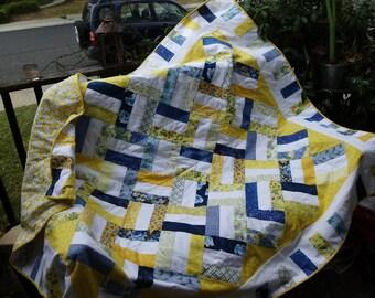 Bright sunny lap quilt
