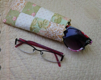 Quilted eye glass case