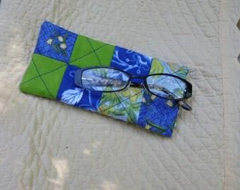 Cool blue eye glass case