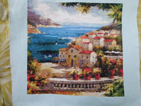 Harbor Vista counted cross stitch