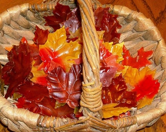 Fall  Wedding Autumn Leaves Soap Single Use Guest Soaps