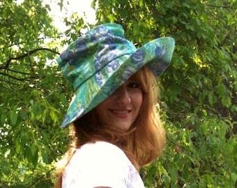 70s Fun Floral Garden Party Hat
