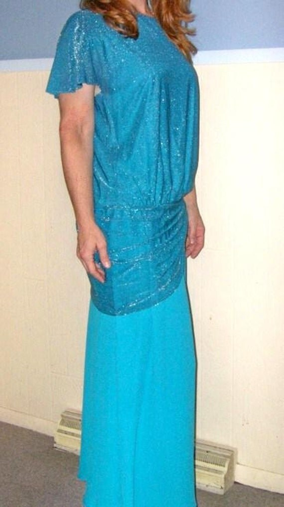 SALE 80s Halston Cocktail Dress MEDIUM