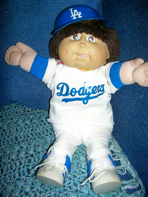80s Coleco Cabbage Patch Kid Doll La Dodgers By